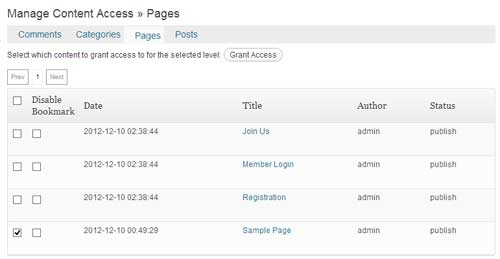 screenshot showing how to protect a post or page using wp emember plugin